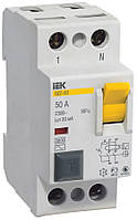Устройство защитного отключения (УЗО) ВД1-63 2P 25 А 30 мА тип AC, IEK