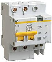 Дифференциальный автомат АД12 2P 10 А 10 мА хар-ка C тип AC, IEK