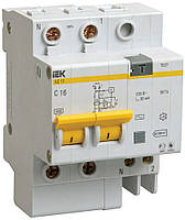 Дифференциальный автомат АД12 2P 16 А 10 мА хар-ка C тип AC, IEK
