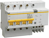 Дифференциальный автомат АД14 4P 50 А 100 мА хар-ка C тип AC, IEK