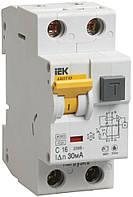 Автоматический выключатель диф. тока АВДТ32 2P 10 А 30 мА хар-ка C тип A, IEK