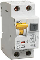 Автоматический выключатель диф. тока АВДТ32 2P 16 А 30 мА хар-ка C тип A, IEK