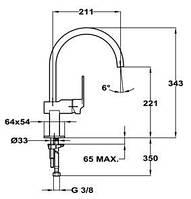 Кухонный смеситель Teka Cuadro H 38911502