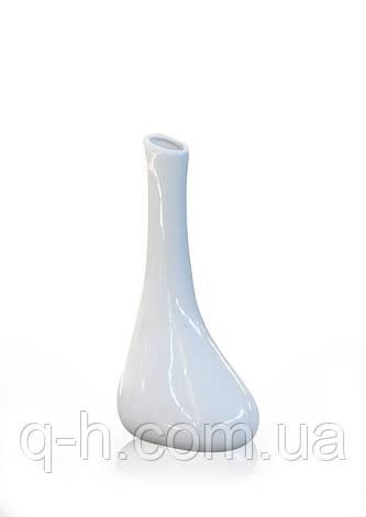 Стильная элегантная ваза для цветов SONATA из керамики белая, фото 2