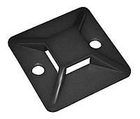 Площадка самоклеящаяся 20×20 под хомуты черная (упаковка 100 шт.), IEK