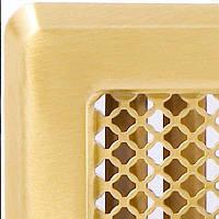 Решетка вентиляционная  (латунь) К4 195x335 (165x300) , фото 1