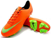 Футбольные бутсы Nike Mercurial FG Orange/Green/Black