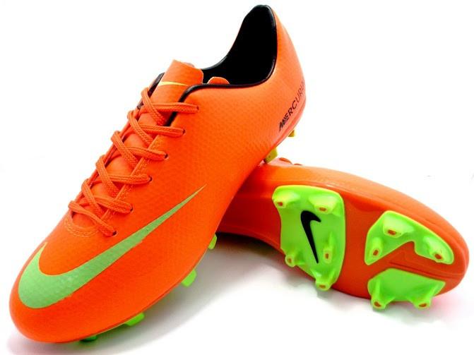 Футбольные бутсы Nike Mercurial FG Orange/Green/Black