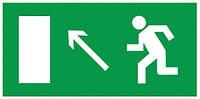 Самоклеящаяся этикетка: 100×50 мм, «Направление к эвакуационному выходу налево вверх», IEK