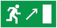Самоклеящаяся этикетка: 200×100 мм, «Направление к эвакуационному выходу направо вверх», IEK