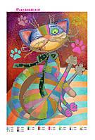 """Схема для вышивки бисером """"Радужный кот"""", фото 1"""