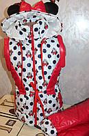 """Детская Куртка- жилетка на девочку """"трансформер"""" демисезонная р32,"""