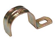 Скоба металлическая однолапковая d25-26 мм, IEK