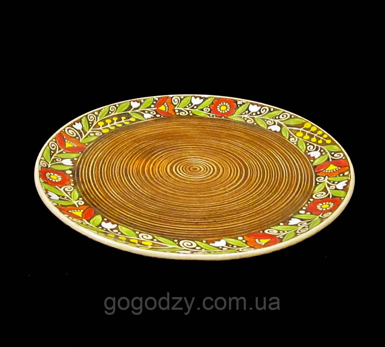 Блюдо 270 мм Вінок коричневе