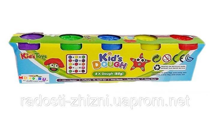 Пластилин Kid's Dough 5 цветов (5шт х 85гр)