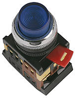 Кнопка ABLFP-22 неон d22 мм красная 240В 1з+1р, IEK
