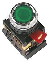 Кнопка ABLFS-22 неон d22 мм прозрачная 240В 1з+1р, IEK