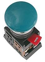 """Кнопка AEA-22 """"грибок"""" d22 мм зеленая 1з+1р, IEK"""