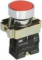Кнопка управления LAY5-BA41 без подсветки красная 1з, IEK