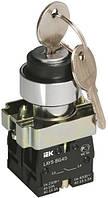 Переключатель LAY5-BG45 на 2 положения с ключом, IEK