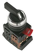 Переключатель ALC-22 на 2 фиксированных положения черный с длинной рукояткой I-O 1з+1р, IEK