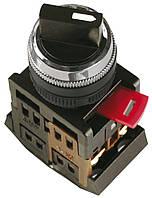 Переключатель AC-22 черный на 2 фиксированных положения I-O 1з+1р, IEK