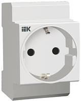 Розетка РАр10-3-ОП с заземляющим контактом на DIN-рейку (SHUKO), IEK