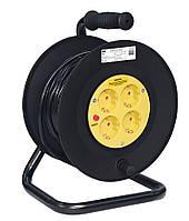 Катушка УК50 с термозащитой 4 места 2P+PE 3x1,0 мм²/50 метров, IEK