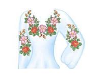 Заготовка для женской вышиванки бисером или нитками