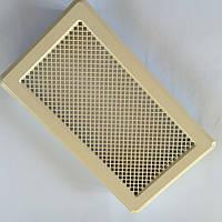 Решетка вентиляционная кремовая К4 195x335 (165x300), фото 1