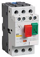 Пускатель ручной кнопочный ПРК32-1,6 In=1,6A Ir=1-1,6A Ue=660В, IEK