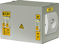 Ящик с понижающим трансформатором ЯТП-0,25 380/42-3 36 УХЛ4 IP30, IEK