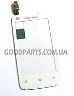 Сенсорный экран (тачскрин) для Lenovo A390T белый (Оригинал)