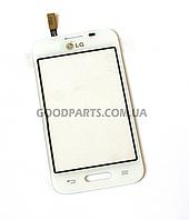 Сенсорный экран (тачскрин) для LG D170 Optimus L40 белый high copy