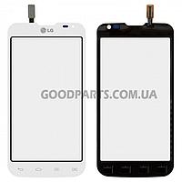 Сенсорный экран (тачскрин) для LG D285 Optimus L65 белый (Оригинал)