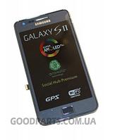 Дисплей с тачскрином и рамкой для Samsung I9105 (Galaxy S2 Plus) синий (Оригинал)