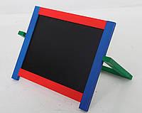 Настольная доска для рисования магнитная двухсторонняя цветная ДУ211 Руди