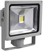Прожектор СДО01-20Д (20 Вт) светодиодный (LED, чип COB) серый IP44, IEK