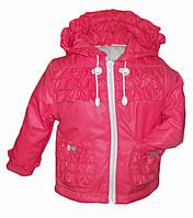 Коралловая куртка для девочки 74 размер
