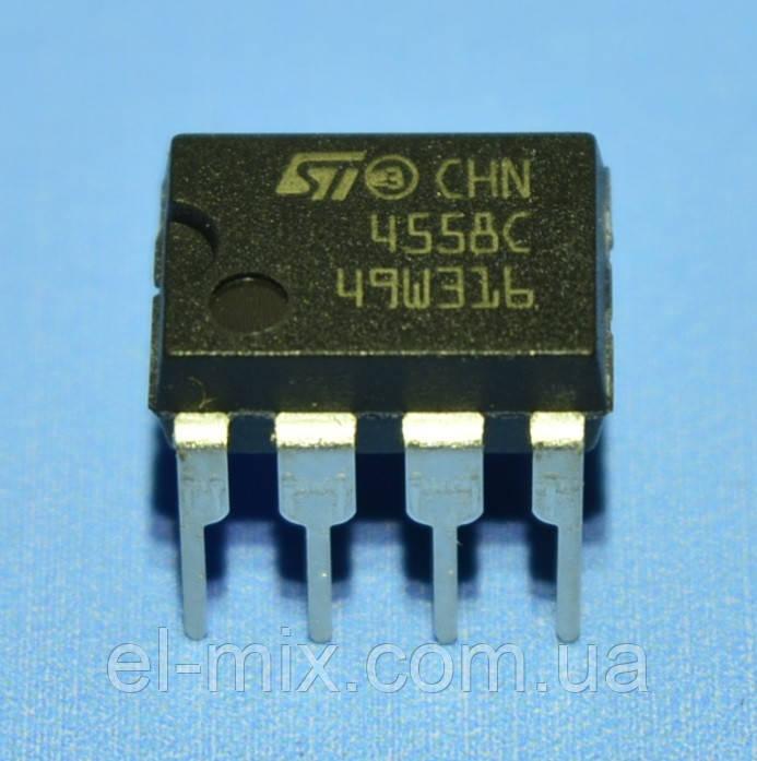 Мікросхема MC4558CN dip8 STM