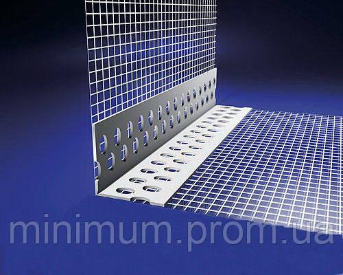 Уголок алюминиевый с сеткой, 3 м