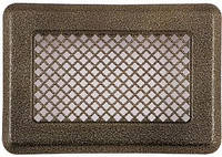 Вентиляционная решетка решетка (антик мідь) К1 135x195 (105х165), фото 1