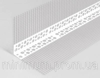 Уголок пластиковый перфорированный с сеткой, 3 м
