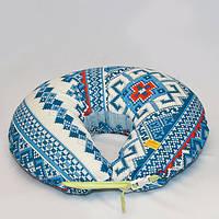 Подушка для кормления двойни. Синия вышивка