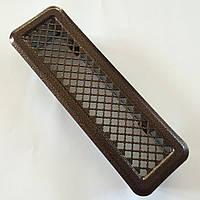 Металлическая вентиляционная решетка (антик латунь) К0 65x205 (45x185), фото 1