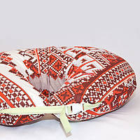 Наволочка к подушке для кормления двойни. Красная вышивка