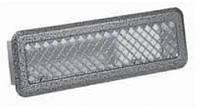 Металлическая вентиляционная решетка К 0 (антик срібло) 65x205 (45x185)