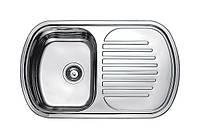 Нержавеющая кухонная мойка Fabiano.80x49(Микродекор)