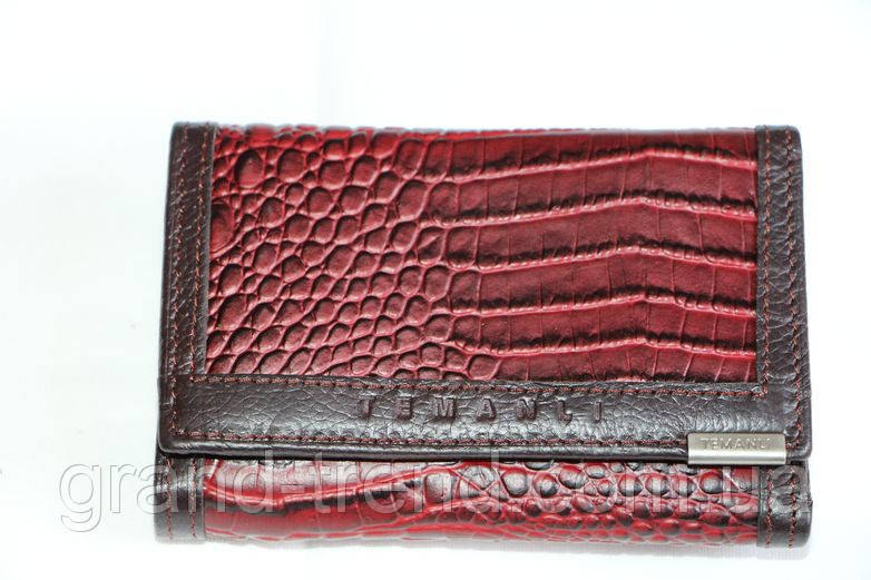 13c46a3fe3af Женский маленький кошелек из натуральной кожи бордо