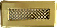 Металлическая вентиляционная решетка К 0 (латунь) 65x205 (45x185)